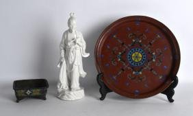 A CHINESE BLANC DE CHINE FIGURE OF A SCHOLAR together