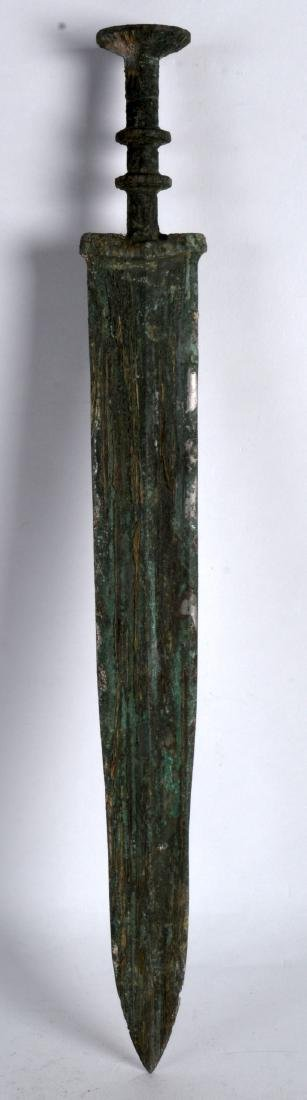 A CHINESE ARCHAIC STYLE BRONZE SWORD. 1Ft 7ins long.