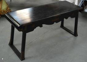A 19TH CENTURY JAPANESE MEIJI PERIOD BLACK LACQUERED