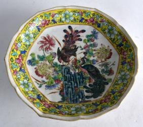 AN EARLY 20TH CENTURY CHINESE FAMILLE JAUNE LOBED