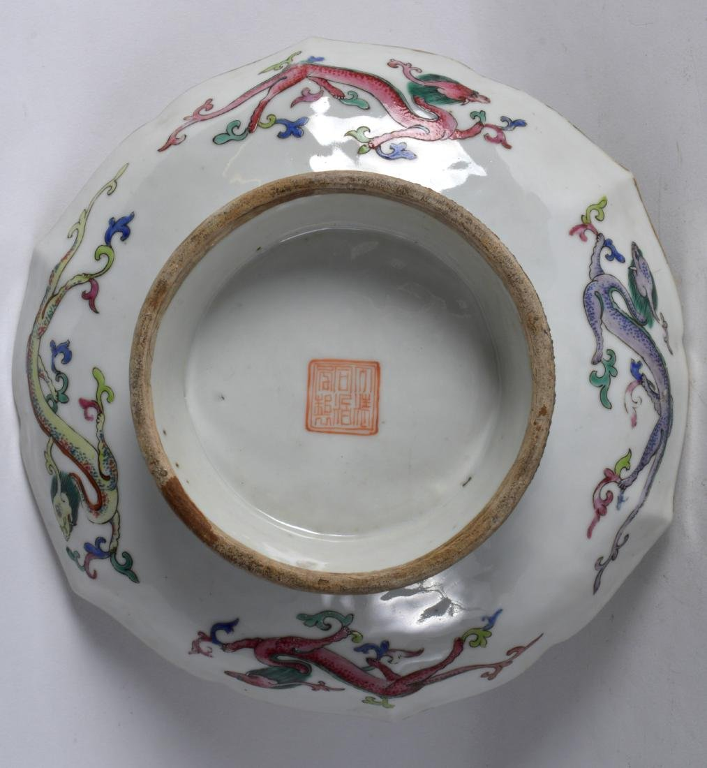 AN EARLY 20TH CENTURY CHINESE FAMILLE JAUNE LOBED - 3