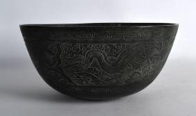 A 19TH CENTURY CHINESE BRONZE BOWL bearing Xuande marks