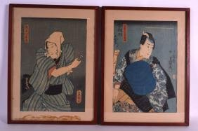 A PAIR OF 19TH CENTURY JAPANESE MEIJI PERIOD FRAMED