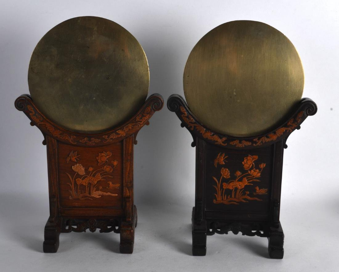 A GOOD PAIR OF 19TH CENTURY CHINESE HARDWOOD AND