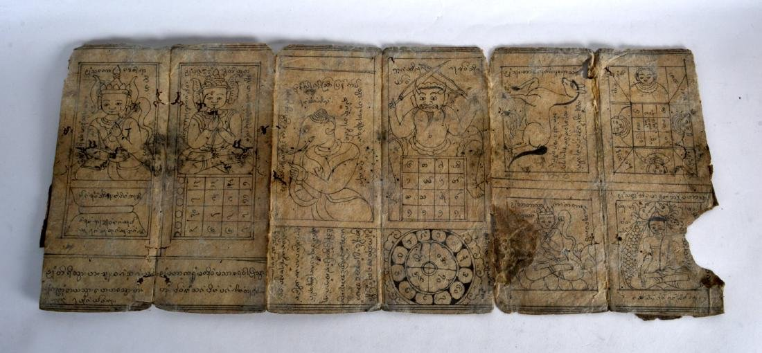 A COLLECTION OF EARLY TIBETAN CALLIGRAPHY PANELS. (qty) - 2