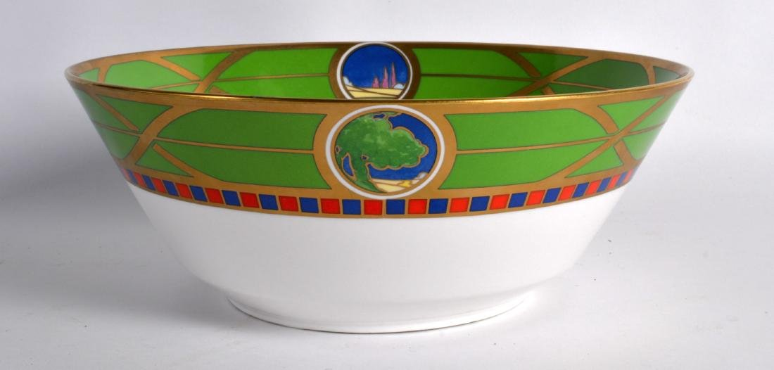 A ROYAL WORCESTER 'ART DECO COLLECTION' LAZY DAYS BOWL