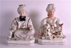 A PAIR OF LATE 19TH CENTURY FRENCH PORCELAIN JACOB