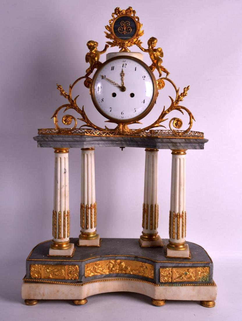 A HUGE EARLY 19TH CENTURUY FRENCH ORMOLU AND WHITE