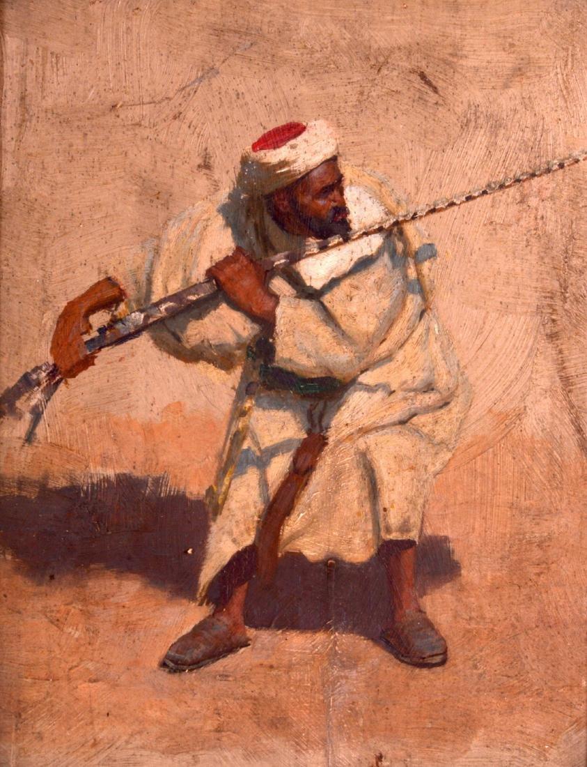 ARABIC SCHOOL (19th Century), A Framed Oil on Panel, a