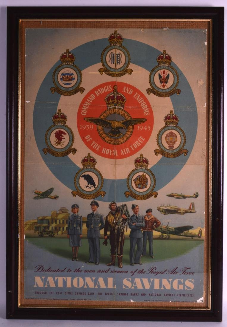 A FRAMED VINTAGE NATIONAL SAVINGS POSTER, Fosh and
