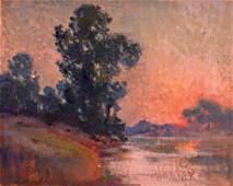 FRENCH SCHOOL, Unframed pastel on board, impressionist,