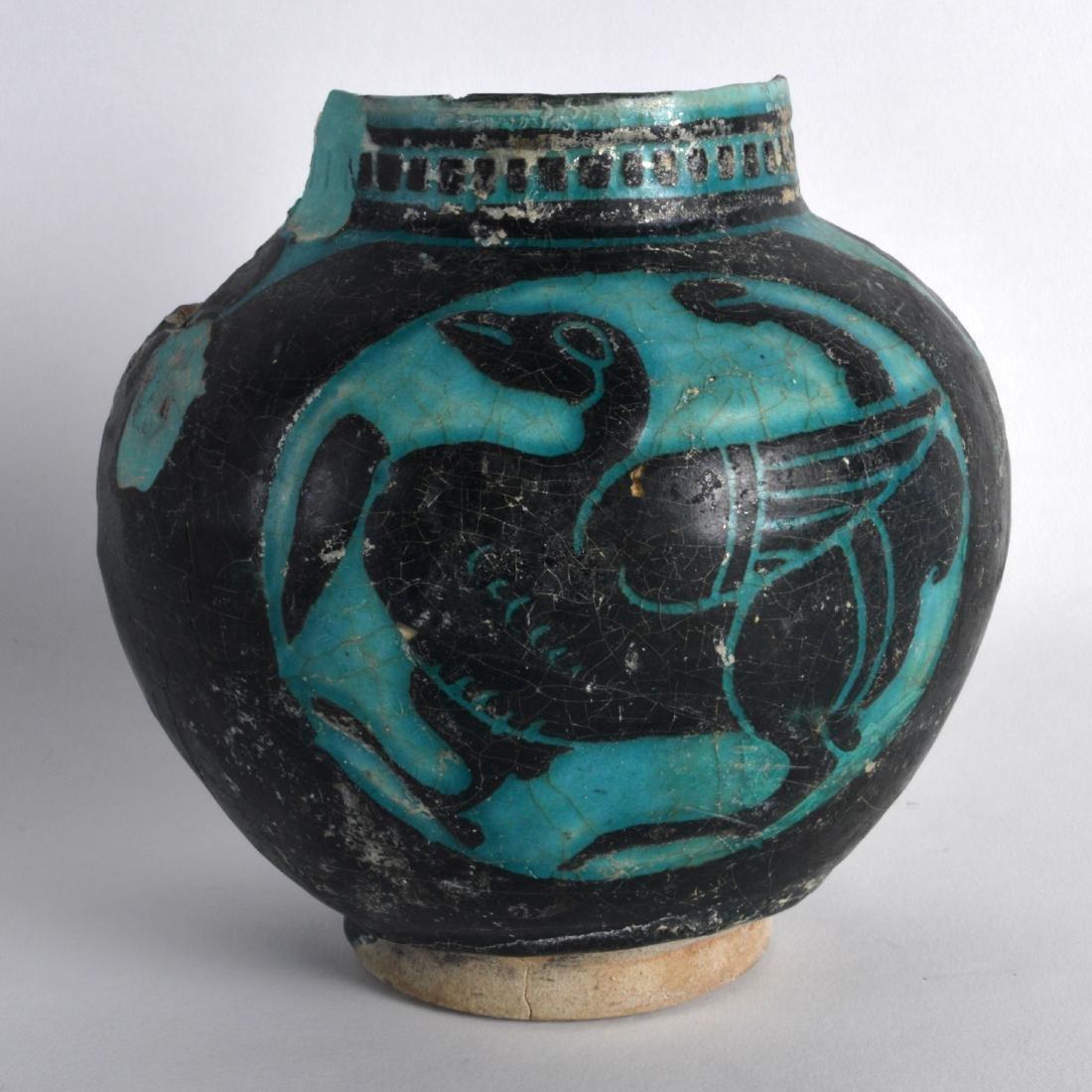 A Persian Silhouette Ware Vase, 12th/13th Century,