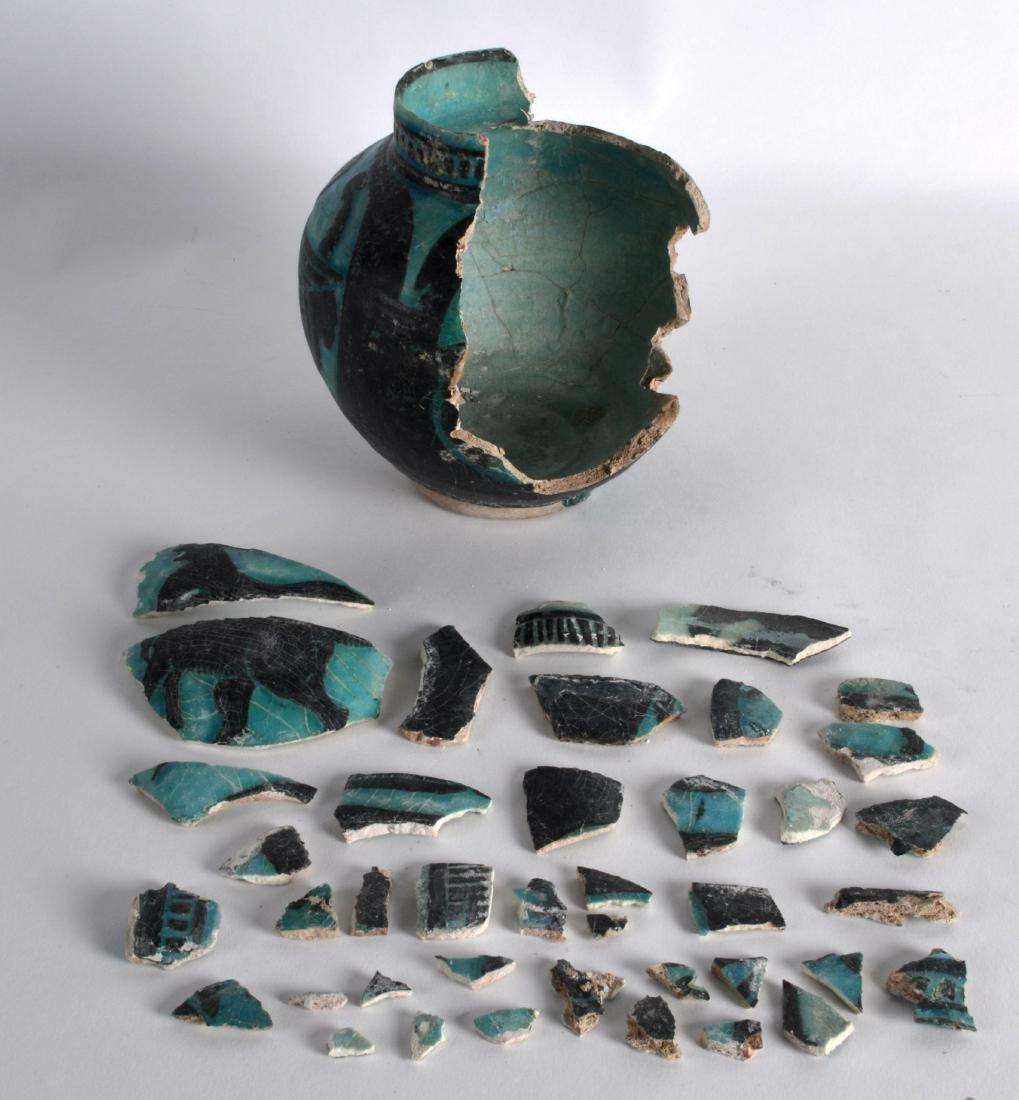 A Persian Silhouette Ware Vase, 12th/13th Century, - 2