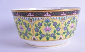 A 19TH CENTURY MINTON BOWL, in the style of Christopher