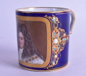 """A 19TH CENTURY SEVRES STYLE """"GOBELET LITRON"""", painted"""