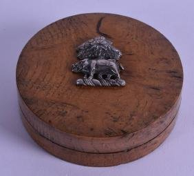 A MID 19TH CENTURY CONTINENTAL SILVER MOUNTED WALNUT
