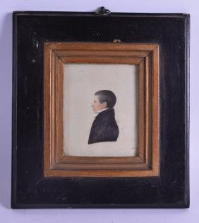 AN EARLY 19TH CENTURY ENGLISH PORTRAIT MINIATURE