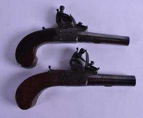 A MATCHED PAIR OF EARLY 19TH CENTURY ENGLISH PERCUSSION