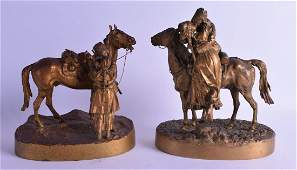A FINE PAIR OF LATE 19TH CENTURY RUSSIAN GILT BRONZE