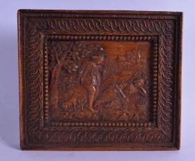 A GOOD 17TH/18TH CENTURY EUROPEAN CARVED FRUITWOOD