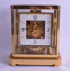 A JAEGER-LE COULTRE BRASS ATMOS CLOCK No. 416463. 24 cm