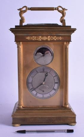 A SUPERB VERY LARGE  EARLY 19TH CENTURY FRENCH PENDULE