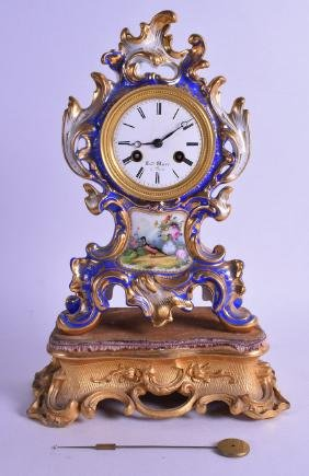 A GOOD 19TH CENTURY FRENCH ROCOCO PORCELAIN MANTEL