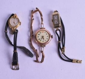 A VINTAGE 9CT ROSE GOLD LADIES WRISTWATCH together with