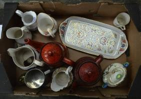 TWO BOXES OF ASSORTED COLLECTABLES mainly porcelain,