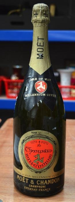 AN UNUSUAL MOET & CHANDON MAGNUM OF CHAMPAGNE No 150,