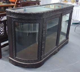 A GOOD ANGLO-INDIAN GLASS FRONTED CREDENZA