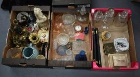 THREE BOXES OF ASSORTED COLLECTABLES including a parian