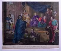 AFTER WILLIAM HOGARTH (1697-1764), Framed coloured