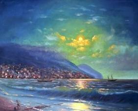 TURKISH SCHOOL (20th Century), Framed Oil on Canvas,