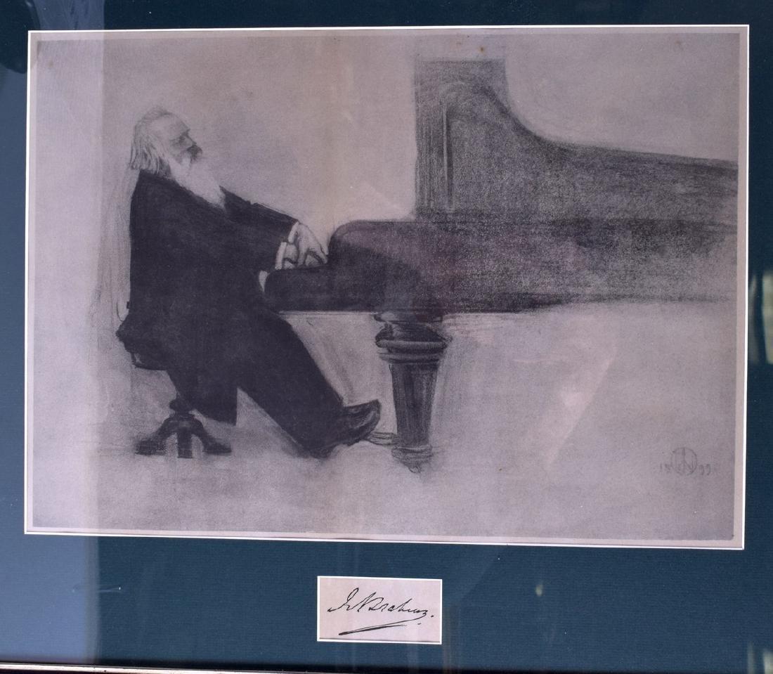 EUROPEAN SCHOOL, Framed Crayon on Paper, Johannes