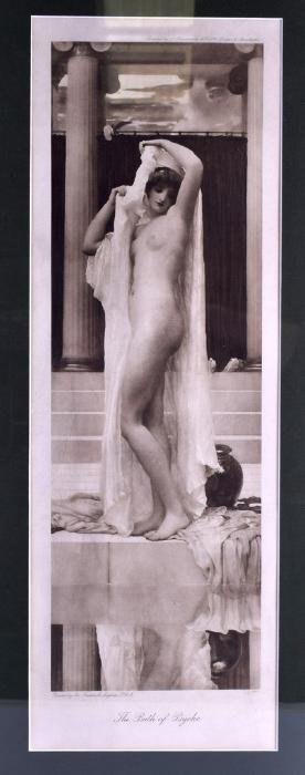 """A FRAMED PRINT, """"The Bath of Psyche"""", together with a"""