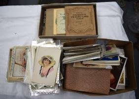 QUANTITY OF POSTCARDS, Varying subjects, together with