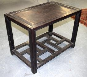 A 19TH CENTURY CHINESE CARVED HONGMU OCCASIONAL TABLE