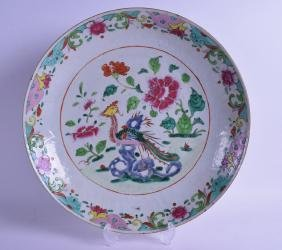 A VERY LARGE 18TH CENTURY CHINESE EXPORT FAMILLE ROSE