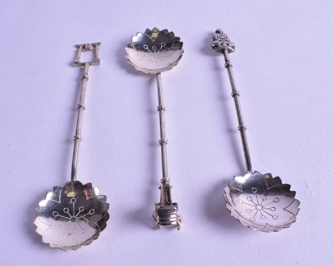 A SET OF THREE LATE 19TH CENTURY CHINESE EXPORT SILVER