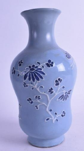 AN 18TH/19TH CENTURY CHINESE POWDER BLUE GROUND BULBOUS
