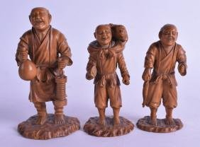 A GOOD SET OF THREE 19TH CENTURY JAPANESE MEIJI PERIOD