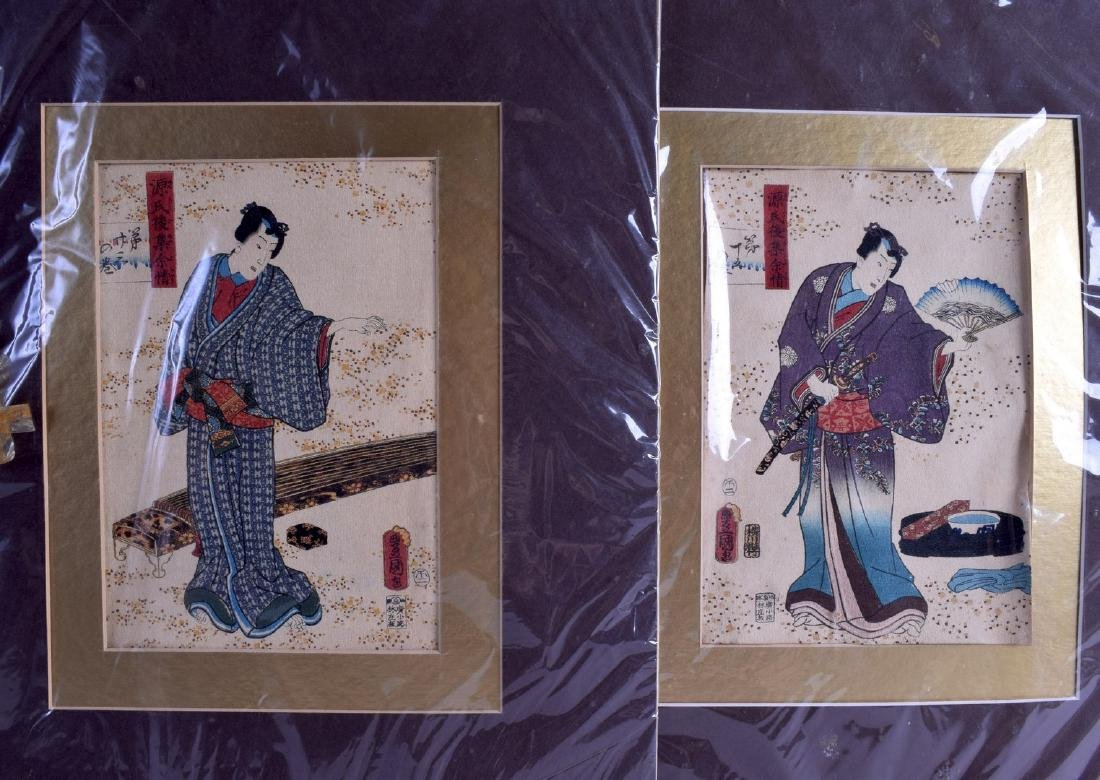 A SET OF FOUR 19TH CENTURY JAPANESE MEIJI PERIOD
