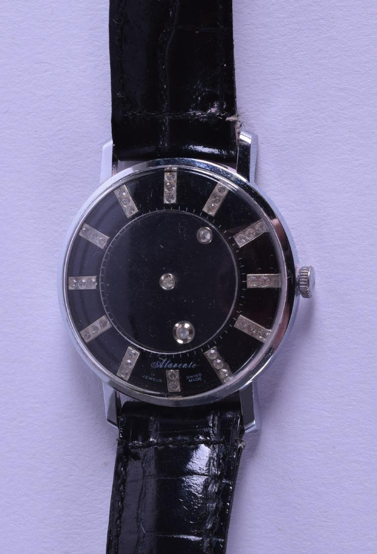 AN UNUSUAL SWISS ALAVENTE GENTLEMANS MYSTERY WRISTWATCH
