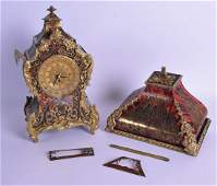 A GOOD MID 19TH CENTURY FRENCH BOULLE BRACKET CLOCK