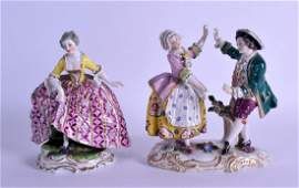 A 19TH CENTURY CONTINENTAL PORCELAIN FIGURAL GROUP