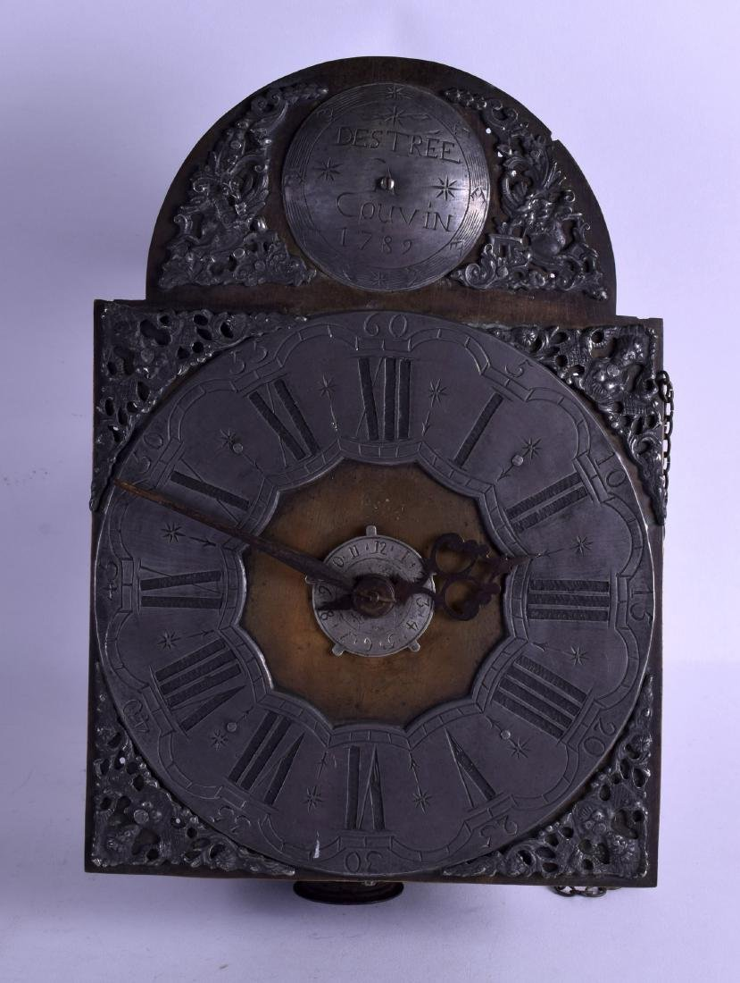 AN 18TH CENTURY LONGCASE CLOCK MOVEMENT by Destree