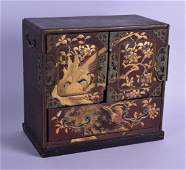 A 19TH CENTURY JAPANESE MEIJI PERIOD GOLD LACQUERED