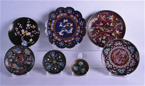 A GROUP OF SEVEN 19TH/20TH CENTURY ORIENTAL CLOISONNE