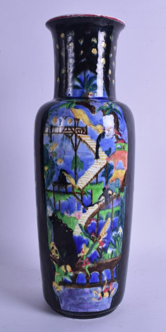A WEDGWOOD FAIRYLAND LUSTRE PORCELAIN VASE painted with